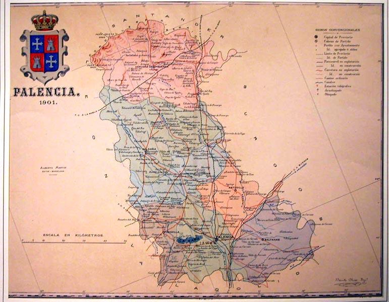 Provincia De Palencia Mapa.Provincia De Palencia Mapas Frame Grabados Mapas